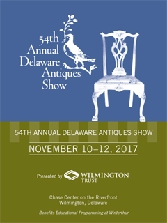 Cover of the 54th Annual Delaware Antiques Show Catalogue.